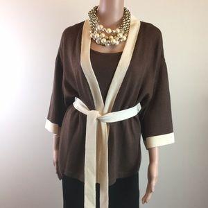 St. John knit jacket, tank and belt, Size M